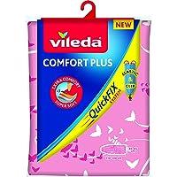Vileda Comfort Plus Telo da Stiro, Copriasse da Stiro Universale, Triplo Strato di Cotone, Mollettone e Spugna…