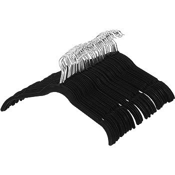 AmazonBasics Lot de 50 cintres en velours pour chemises robes Noir ... 1f3ce14f1d41