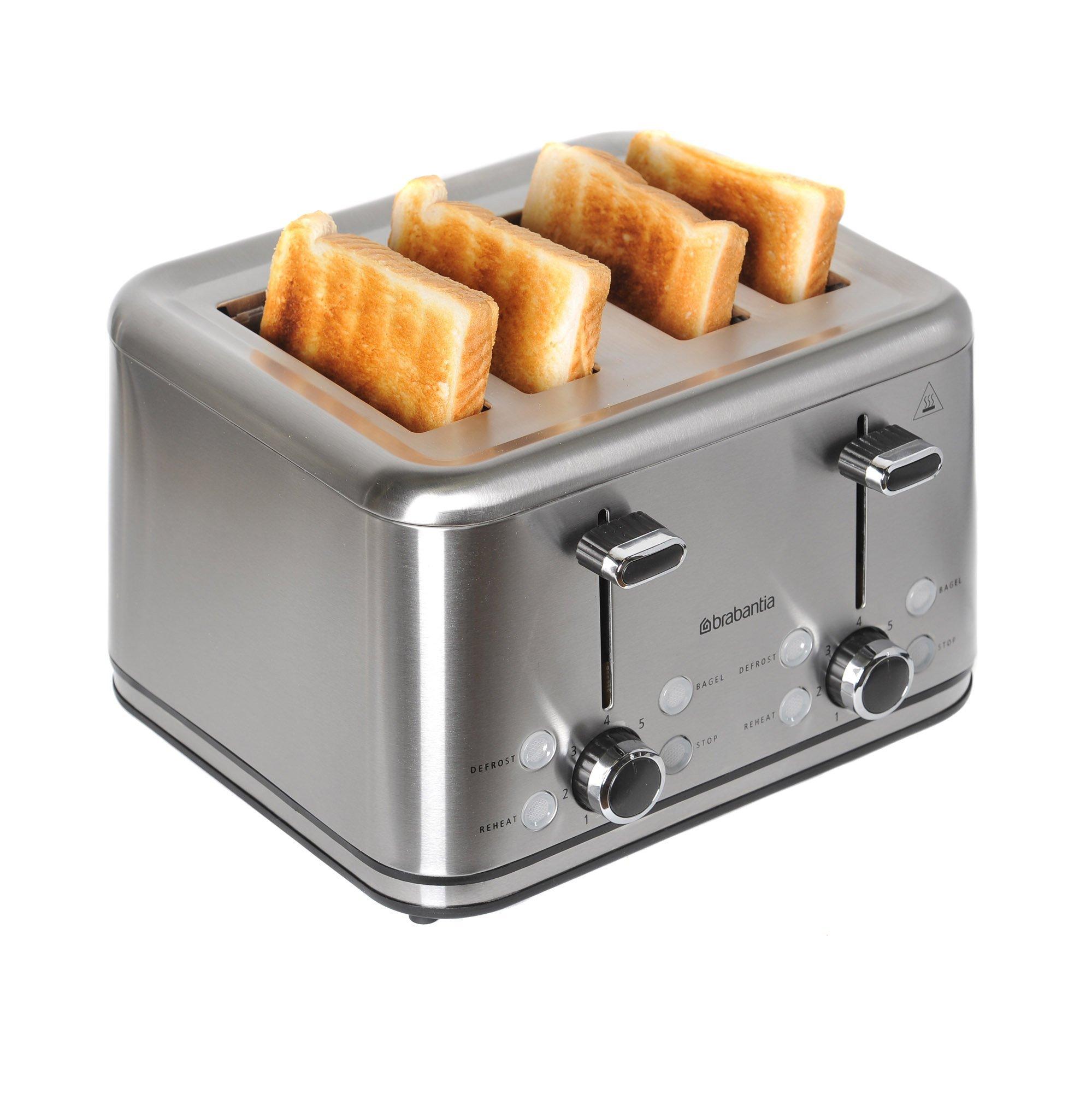 Brabantia BBEK1031 Four Slice Stainless Steel Toaster by Brabantia