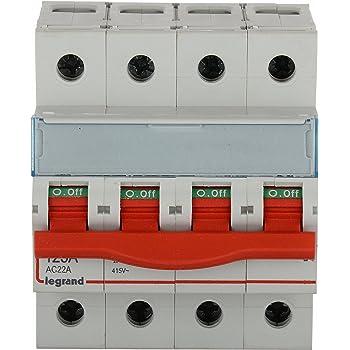 Legrand DX 3 125-Amp 4-Pole MCB Isolator 406523