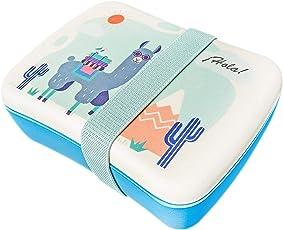 HOORAY Eco Brotdose für Kinder aus Bambus mit verbessertem Verschluss   Extra Snackbox für Unterteilung   BPA frei, 100% lebensmittelecht   Motiv für Mädchen und Jungs   Meal prep Kindergarten Schule