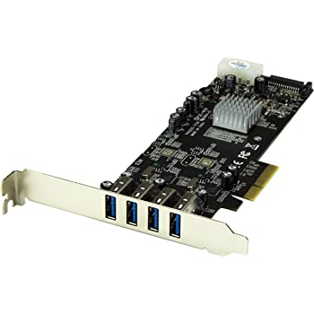 Startech 4 Port PCI Express SuperSpeed USB 3.0 Card Adapter w/ 2 Dedicated 5Gbps Channels - UASP - SATA / LP4 Power