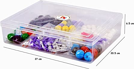 Chemistry Teachers / Students Organic - Inorganic Molecular Model Teaching and Studying Kit with Extra Lone Pair and Pie Bond & 220 Total Pieces