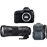 "Canon EOS 5D Mark IV 30.4MP DSLR Camera (Body) + Sigma 150-600mm f/5-6.3 DG OS HSM Contemporary Lens + Arctic Fox Camera Bag with Lens, 15.5"" Laptop & Tripod Holder"