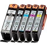 Lot de 5 cartouches d'encre Canon PGI580 CLI581 PGI-580 CLI-581 Imprimante Pixma
