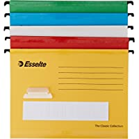 Esselte 93042 Classic A4 Vertical Suspension Files - Assorted Colours, Pack of 10