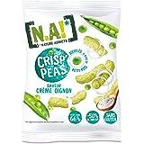 N.A! Nature Addicts - Crisp'Peas Crème Oignon - Soufflés de Petits Pois, Légers et Délicats - 50% de Matières Grasses en Moin