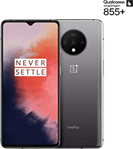 "OnePlus 7T Smartphone, 8 GB RAM 128 GB, 6.55"" / 16,6 cm, Display AMOLED 90Hz, Grigio (Frosted Silver)"