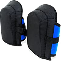 Gel-Knieschoner | 2 Stück in Unigröße | elastisch | stufenlos verstellbare Stoffriemen - Paar Gel Knieschützer Knieschutz Kniepolster