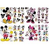 Adesivi Muro Minnie Cartoon Kids Adesivi da Parete Minnie e Topolino Adesivi per Camera Neonati e Bambini Decorazione Cartone