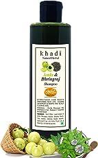 Khadi Natural Herbal Parabens free Anti Hair Fall Treatment Amla & Bhringraj Shampoo for Women and Men 200 ml