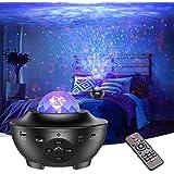 Projecteur Ciel Étoile Hiluckey Veilleuse Enfant LED Lampe Projecteur Étoile avec Nuage Nébuleuse/Contrôle Vocal/ Télécommand