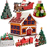 Traditional Wooden Christmas Advent Calendar Model Choice Home Decoration Reusable DIY Gift Drawers Xmas House Surprise