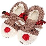 THKJW - Zapatillas de Estar por casa de Peluche para Mujer marrón marrón