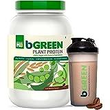 bGREEN 100% VEGAN Plant Protein 1 KG 30 Servings , 25 G Pure Plant Protein, Complete Amino Acids, Café Mocha Flavour, Antioxi