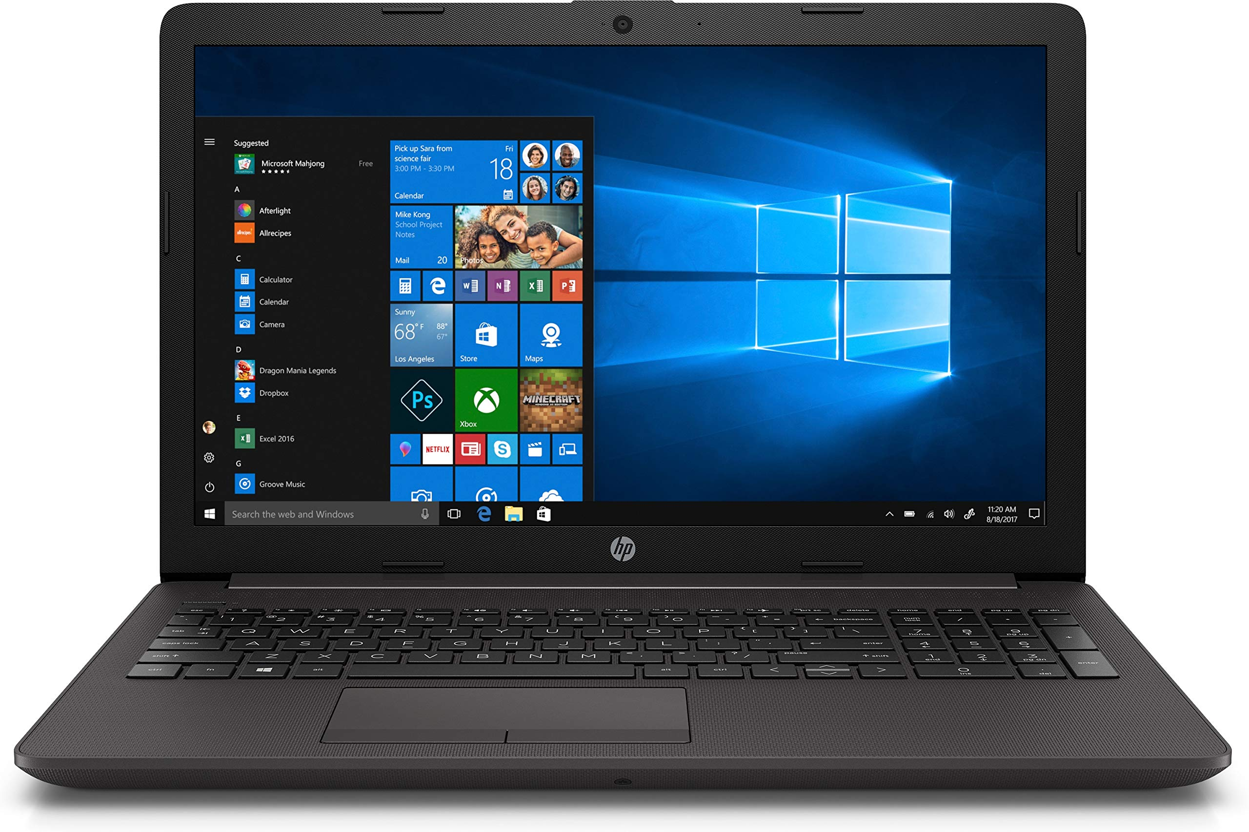 PORTÁTIL HP 250 G7 6EB61EA – INTEL N4000 1.1GHZ – 4GB – 500GB – 15.6'/39.6CM HD – DVD RW – BT – HDMI – FREEDOS