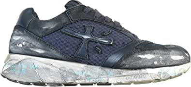 PREMIATA Scarpe da Uomo Sneaker Tessuto Tecnico e camoscio Zac Zac 3565 Blu