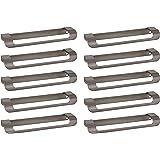 Gedotec H10133 Greeplijst, roestvrij staal, meubelgreep, keukengreep, profiellijst, L-vorm, boorafstand 160 mm, gebogen desig