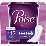 Poise Incontinence Pads, Ultimate Absorbency, Regular, 112 Count