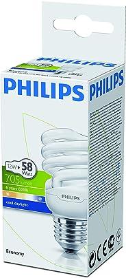 Philips Economy Twister Cdl E27 1Pf/6 Normal Duylu Enerji Tasarruflu Ampul, Soğuk Beyaz, 12W