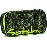 Satch Schlamperbox Green Bermuda, Mäppchen mit extra viel Platz, Trennfach, Geodreieck, Grün