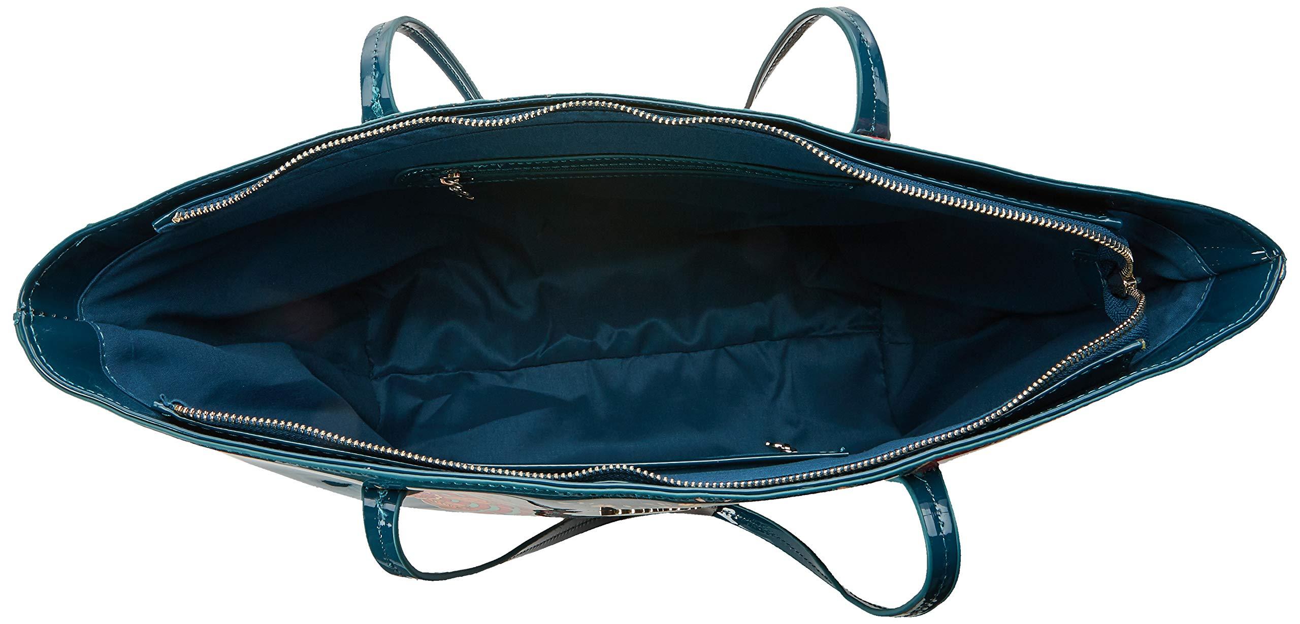 Desigual Bols_discovery_capri Zipper - Borse a spalla Donna, Blu (Petrucho), 13x28x30 cm (B x H T) 5 spesavip