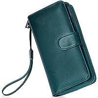 Portafoglio Donna Pelle Grande Capacità Lunga Portamonete Bloccaggio RFID, Elegante Donna Wallet Portafoglio con…
