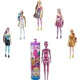 Barbie Color Reveal, muñeca sorpresa color metálico y brillo con accesorios de moda sorpresa (Mattel GTR93)