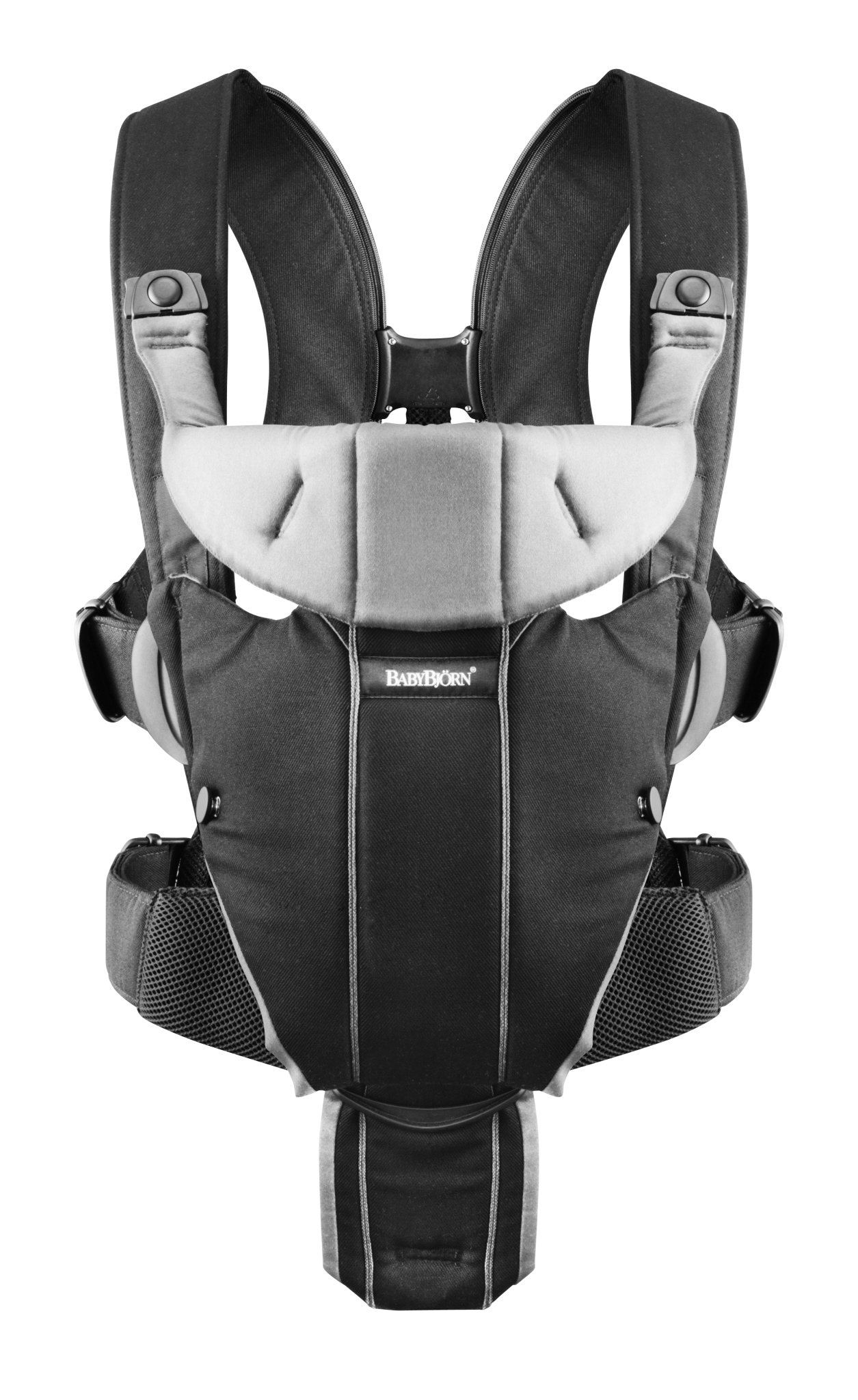 BABYBJÖRN Baby Carrier Miracle (Black/Silver, Cotton Mix) Baby Bjorn Excellent support for your lower back Comfortable waist belt distributes pressure away from your shoulders Carry on front, facing in or facing out 1