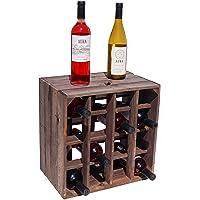 Kistenkolli Altes Land Casier à vin 40 x 40 x 27 cm Blanc/naturel/flammé Tailles 40 x 40 x 27 cm