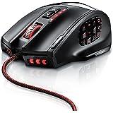 Titanwolf - Gauntlet Ratón USB para Juegos MMO - frecuencia de muestreo 16400 dpi - 18 Botones - Alta precisión - iluminación