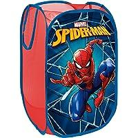 Superdiver Panier de Rangement à Linge Pliable pour Enfant, Polyester 36x36x58cm (Spiderman)