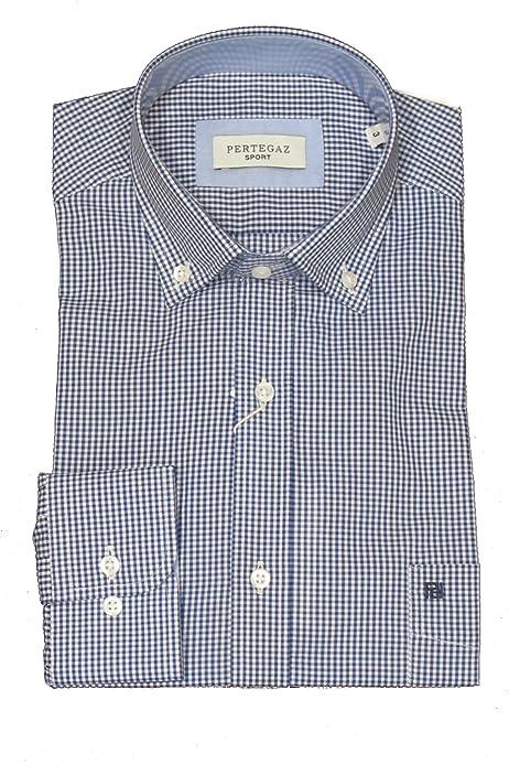 Pertegaz Camisa Hombre Cuadro Vichy (3XL): Amazon.es: Ropa