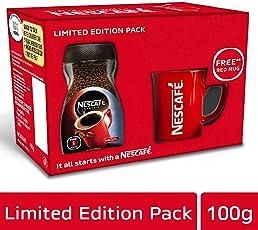 Nescafé Classic Coffee, 100g with Free Red Mug
