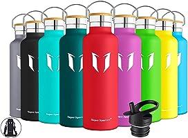 Super Sparrow Trinkflasche Edelstahl Wasserflasche - 350ml & 500ml & 620ml & 750ml & 1000ml - Standardmund...