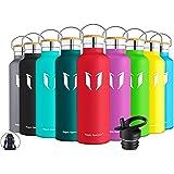 Super Sparrow Trinkflasche Edelstahl Wasserflasche - 350ml, 500ml, 620ml, 750ml, 1000ml - Standardmund Isolierflasche mit Perfekte Thermosflasche für das Laufen, Fitness, Yoga, Im Freien und Camping | BPA FREI
