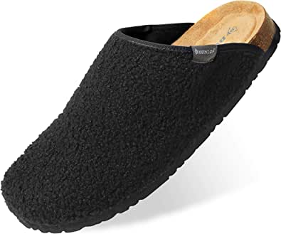 Dunlop House Slippers for Men, Memory Foam Slipper for Mens, Comfy and Warm Indoor Shoes, Size 7-12, Fluffy Novelty Gifts for Birthdays and Christmas
