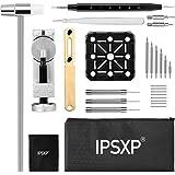 IPSXP Kit de Réparation Montres,Kit de Remplacement de Batterie Montres Professionnel et Outil pour Ouvrir Montre Boîtier Vis