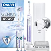 Oral-B Genius 9000 Sensi Ultrathin Electric Toothbrush Rechargeable Powered By Braun, 6 Modes Including Whitening, Sensitive and Gum Care, 4 Toothbrush Heads, 1 USB Travel Case