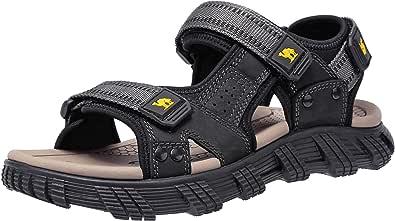 CAMEL CROWN Sandali Estivi Uomo Sandali Calzature Uomo Pantofole Pelle Ciabatte Scarpe Mare Sandali Cuoio Uomo Infradito per Spiaggia, Piscina, Viaggio