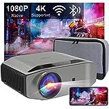 """Projektor Full HD Wifi Bluetooth, Projektor Artlii Energon2 Native 1080p, Obsługiwany 4k, 8000 Lumenów, Ekran Max 300"""", Proje"""