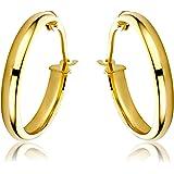 Miore Orecchini Donna Cerchio Oro Giallo 9 Kt / 375