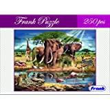 Frank in Africa 250 Pieces Jigsaw Puzzle for Kids Above 9 Years Old and for Adults – Challenging and Educational Puzzle Game-