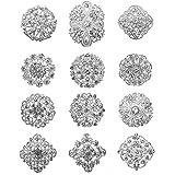 keland 12pcs Mix Set Spille di cristallo Fiore Spilla Collare Pin Corsage Bouquet Decor Lotto all'ingrosso FAI DA TE BROCCA