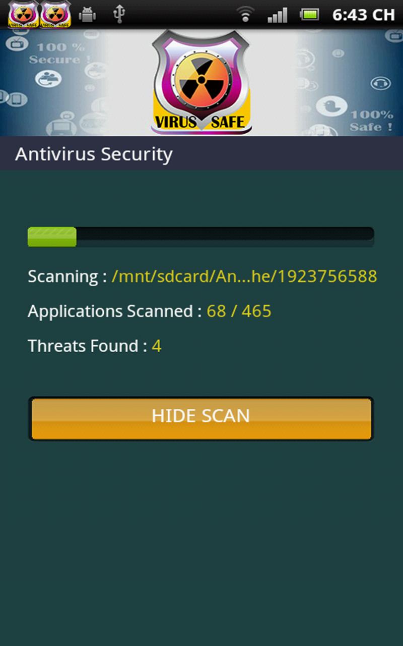 antivirus gratuit virus scan appstore pour android. Black Bedroom Furniture Sets. Home Design Ideas