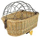 M-Wave Weidenkorb, handgemacht, für Haustiere geeignet, mit Stahldraht-Deckel