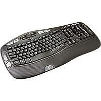 Logitech K350 Ergonomische Kabellose Tastatur, 2.4 GHz Verbindung via USB-Empfänger, 17 Programmierbare Multimedia…