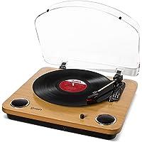 ION Audio Max LP - USB Plattenspieler Retro mit Lautsprecher, 3 Abspielgeschwindigkeiten, Konvertierungssoftware Vinyl…