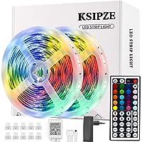 Ksipze Striscia Led 10M Rgb Led Colorati Luci Led Light Strip con 44 Tasti telecomando Luminosità Regolabile Nastri Led…