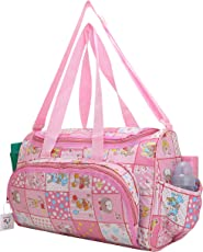 Mother Bag Baby Carry Bags Nappy Diaper Bag Mummy Multipurpose Multi Compartment by Indi Bargain (Pink)